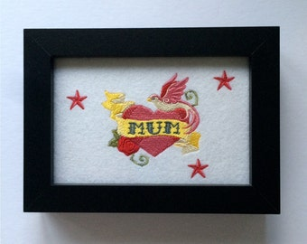 Tattoo MUM - Framed Embroidered Gift