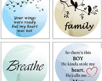 MERZIEs 18mm U PICK Wings Ready I Was Not, Family, Breath, Boy Stole Heart Calls Me Mom SNAP - SHIPs from USA - Combined Shipping