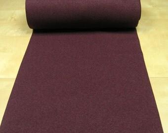 Rib knit fabric • plain uni • bordeaux heather • 0.54yd (0.5m) 002983