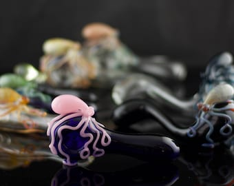 24 Octopus Glass Pipes Wholesale / 24 pc Octopus Pipes / Borosilicate Pipe / Thick Wall / Pyrex Pipe / Custom Glass Pipes / Made to Order