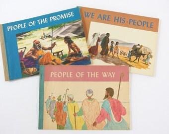 Vintage Mid Century Children's Books - Three Religious Books
