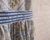 Spring Tea Dress { little blue rose } size 14
