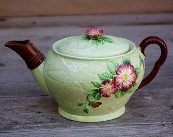 Carlton Ware Teapot Green Wild Rose