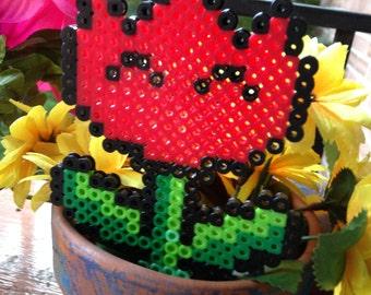 Handmade Flower Mario Garden Decoration Perler Hama Melty Bead