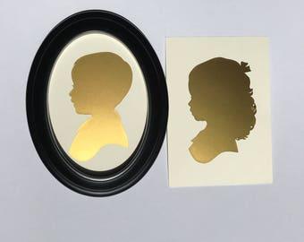 Gold Foil Silhouette Portrait
