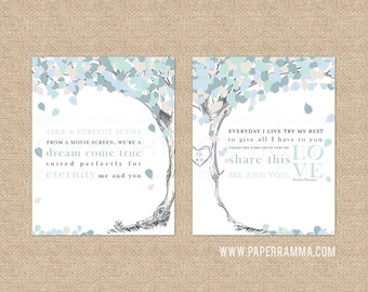 Kenny Chesney Me and You, Wedding Song Lyric Art, First Dance Lyrics, Wedding Keepsake // Choose Art Print or Canvas // W-L15-2PS HH4
