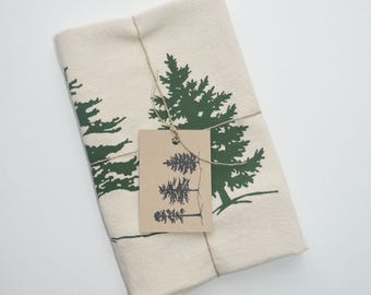 Patriotic Trees Tea Towel Dish Towel Natural Flour Sack Towel