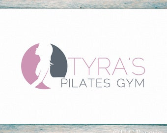 Yoga Logo, Pilates Logo Design, Custom Logo, Business Logo, Gym Logo, Fitness Logo, Premade Logo