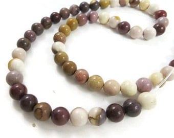 16 Inch Strand Moukaite Jasper Beads 54 Round Beads 8 mm aJewelry and Bead Supplies Destash Fire Mountain Gems