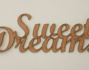 Sweet Dreams Sign Engraved Wood Sign Wedding Gift House Warming Gift