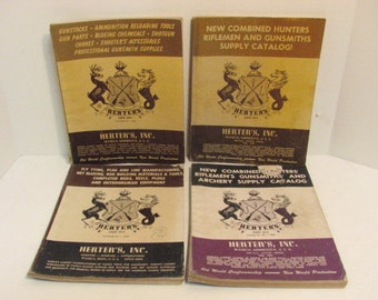 Lot of 4 Vintage Herters Catalogs 1950s Hunting Reloading Catalog