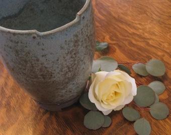 Blue Industrial Vase