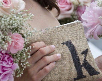 Personalized Initial Clutch - Wedding Party - Wedding Clutch