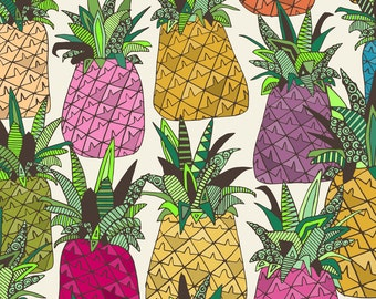 Pineapple Tropical Fabric By The Yard West Coast Pineapples By Scrummy Pineapple Home Decor