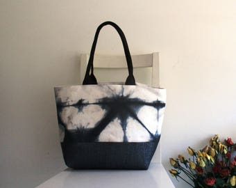 Shibori Tote / Shoulder Bag