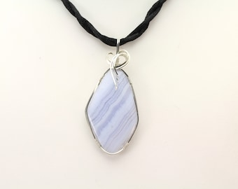 Blue Lace Agate. Listing 483355310