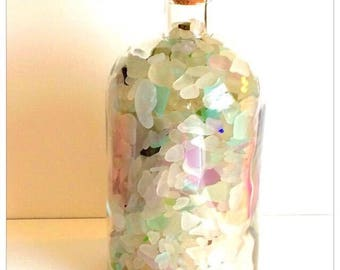 Large Glass Jar of Naturally Ocean Tumbled Beautiful Sea Glass