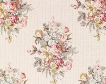 Tilda Fabric, Tilda Sofia White Fat Quarter, Happiness is Homemade Collection, Tilda Fabric 480737, Fat Quarter, 50 cm x 55 cm