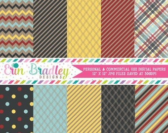 50% OFF SALE Digital Scrapbook Papers Personal and Commercial Use Afternoon Crafts Medley