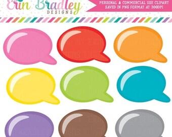 50% OFF SALE Speech Bubbles Clipart Personal & Commercial Use Clip Art Graphics