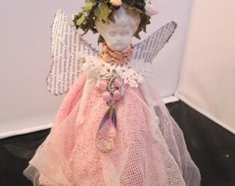 assambled art doll angel