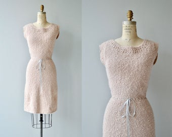 Little Soft knit dress | vintage 1950s knit dress | 50s knit dress