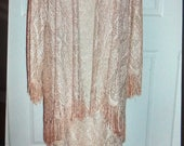 Beautiful Vintage Gold Flapper Dress and Jacket