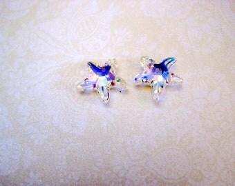 Swarovski Crystal Crystal AB Starfish Pendant - 17-18mm
