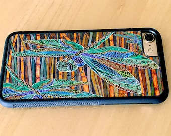 Dragonfly Garden, iPhone case, cover,iPhone 5/5s, iPhone 6/6s, iPhone 6 Plus, iPhone 7, iPhone 7 Plus