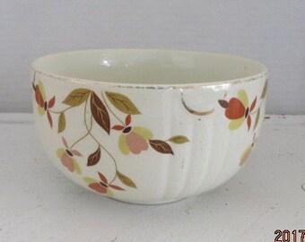 """Vintage Hall Jewel Tea Autumn Leaf 6"""" Bowl"""
