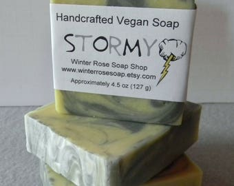 ON SALE - Stormy - All Natural - Artisan Soap - Handcrafted - Patchouli - Vegan - Palm Free - Cold Process