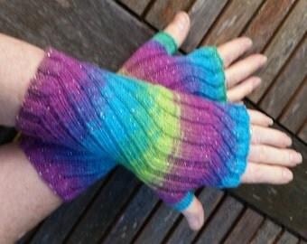 Fingerless Gloves -  Hand  Warmers -  Wrist Warmers.  Hand knit.