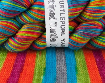 Nano - Hand-Dyed Self-Striping Sock Yarn