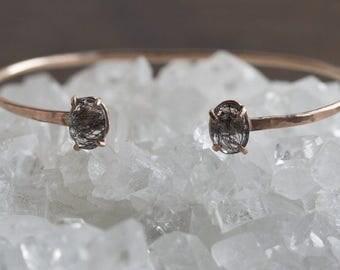 Tourmaline in Quartz Cuff Bracelet