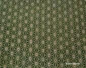 """Scrap /  Kimono Fabric - Asanoha Green - 110cm/43""""W x 53cm/20""""L"""