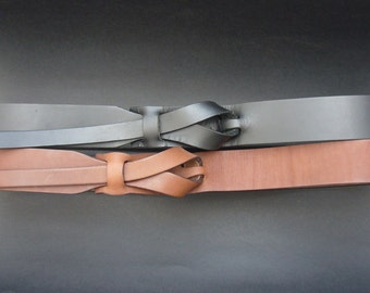 Black and Dark Camel Combo Muse Belts / Free shipping