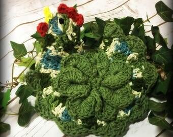 Chicken/Trivet/Potholder/100%Cotton/kitchen decor/chicken potholder/chicken trivet/ready to ship/crochet/crochet potholder/housewarming gift
