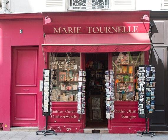 Paris Photography, Paris Paper Shop on Ile St Louis, Postcards from Paris, Parisian, French Decor, Paris Wall Art, Rebecca Plotnick