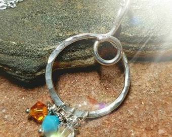 ReSeRvEd - Swarovski Crystal Birthstone  Charm add-on for Hill Country Silver Charm Holders