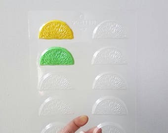 Lemon lime orange citrus Chocolate Candy Mold