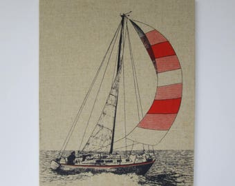 Sailboat Screenprint Picture