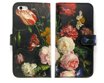 Leather iPhone 7 case, Galaxy S6 Case, iPhone 6s Case, iPhone 6s Plus Case, iPhone 5s Case - A Dutch Spring Folio Style