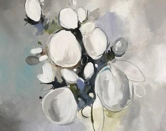 Dahlias Dahling - Abstract Art - Mixed Media on Canvas - Gallery Wall Art - Modern Art - Abstract Wall Art - Original Art