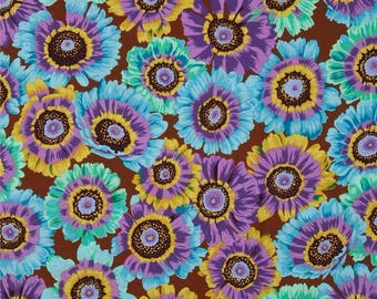 COUPON CODE SALE - End of Bolt - Painted Daisy, Philip Jacobs, Rowan Westminster, 100% Cotton Quilt Fabric, Floral Quilting