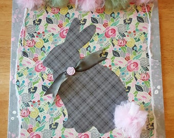 Rad Plaid Bunny Collage