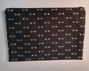 Zipper Pouch,Arrows Print, Flat Zipper Pouch,Bags and Purses, Ipad/Tablet/Notebook Cover,Travel Case, Toiletry Case, His/Hers Case