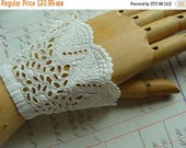 ON SALE Reserved Jane Please do not purchase antique Heirloom Tambour  Intoxicating Antique Handmade Wedding Cuffs Downton Gatsby N033