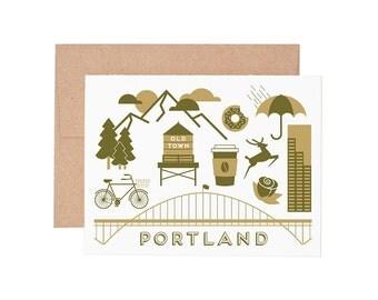 Portland Letterpress Greeting Card - Blank Card | Greeting Cards |