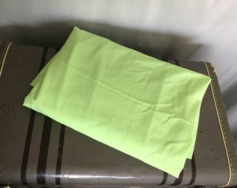 Lime Green Flat Sheet Double Bed Vintage