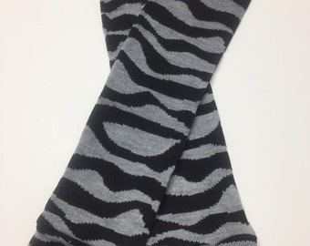 Handmade Baby Toddler Child Leg Warmers / Arm Warmers - Dirty Zebra